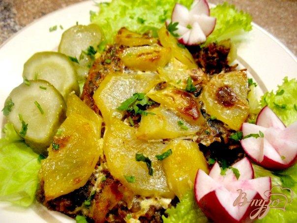 Фото приготовление рецепта: Грибы с баклажанами,картошкой... шаг №3