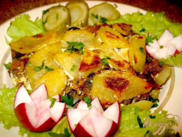 фото рецепта: Грибы с баклажанами,картошкой...