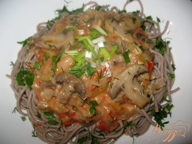 Рецепт Гречневая лапша с грибами.