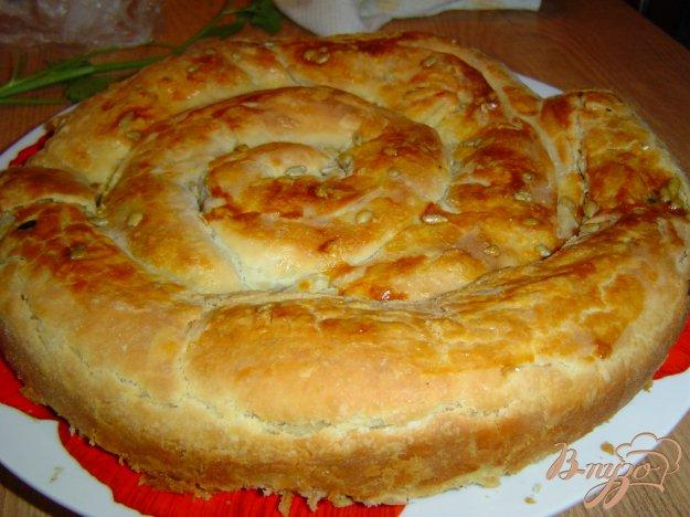 Рецепт Пирог из слоеного теста с начинкой ассорти