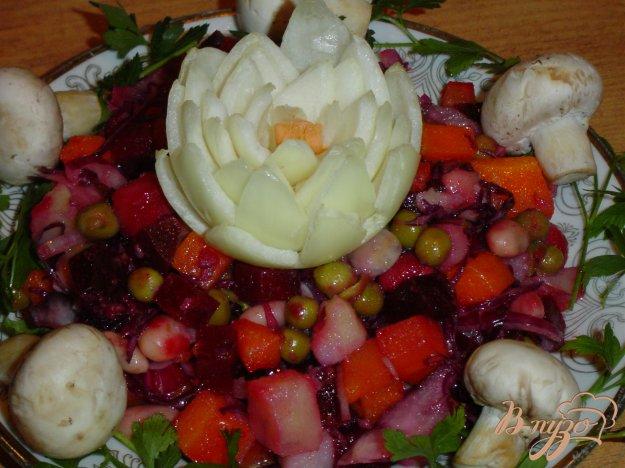 Рецепт Винегрет со свеже-маринованными грибами