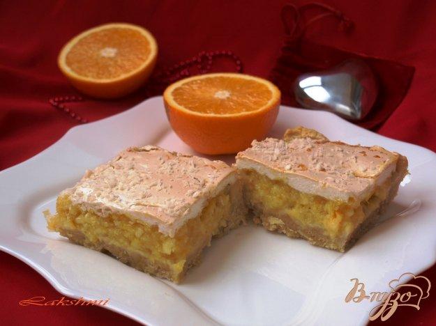 """Рецепт Цитрусовый пирог с безе """"Сладкие мечты"""""""