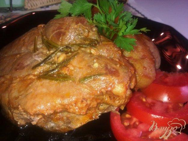 Рецепт Мясо запеченное с розмарином и овощами