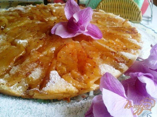 фото рецепта: Ароматный шведский заварной яблочный пирог