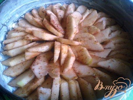 Ароматный шведский заварной яблочный пирог