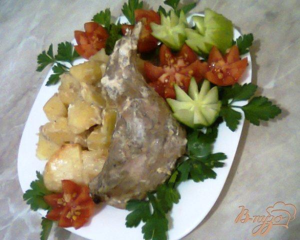Рецепт Кролик запеченый с горчицей и сметаной.