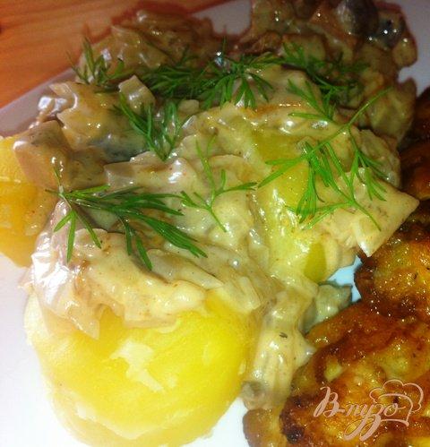 Рецепт Соус грибной с картошечкой