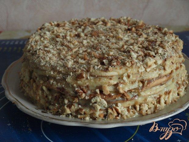Фото приготовление рецепта: Торт на сковороде шаг №8