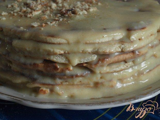 Фото приготовление рецепта: Торт на сковороде шаг №7