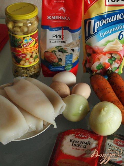 Фото приготовление рецепта: Фаршированные кальмары шаг №1