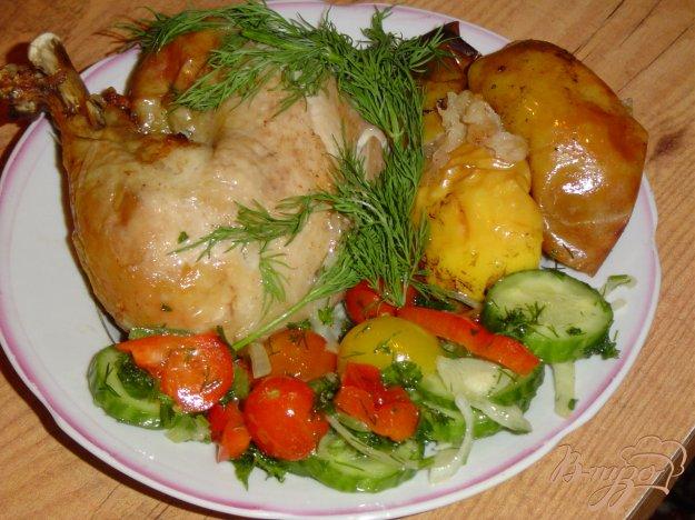 Рецепт Курочка , фаршированная яблоками и лимоном