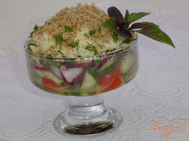 Рецепт Овощной салат с брынзой и орехами