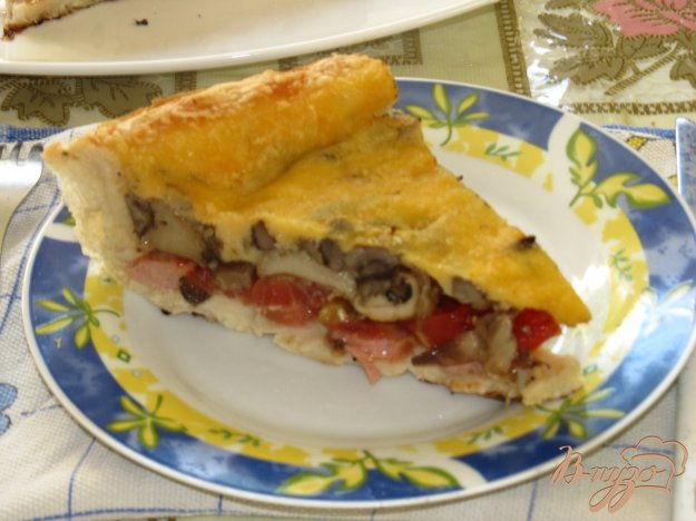 Рецепт пиццы из слоеного теста с шампиньонами