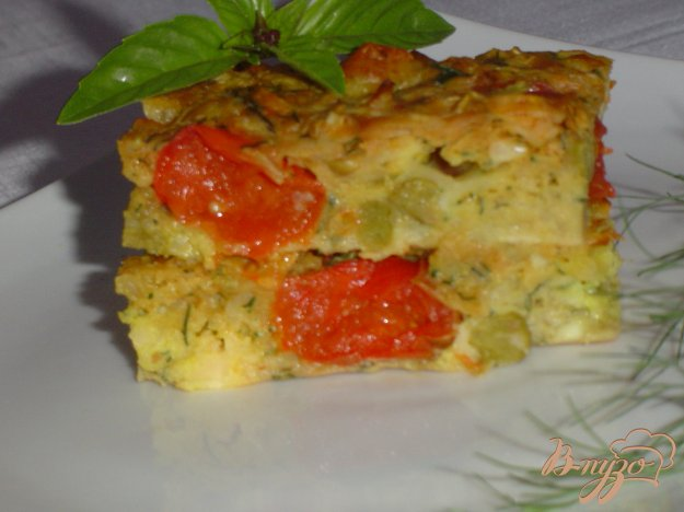 Рецепт Запеканка с капустой,сыром, зеленым горошком