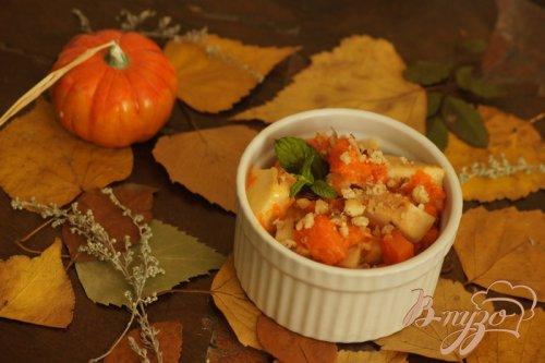 Тыквенно-яблочный десерт в духовке