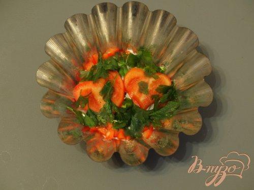 Заливное из курицы с овощами и грибами