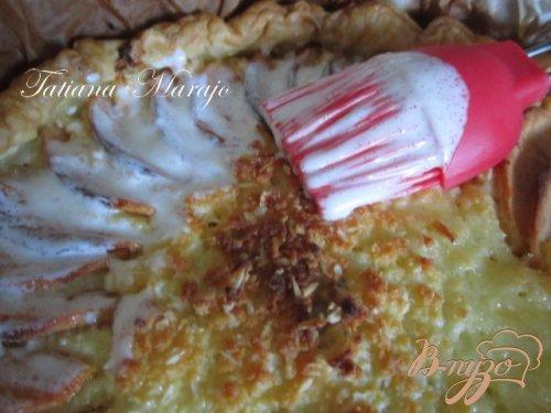 Яблочный пирог с творогом..