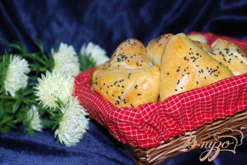 Пирожки с паштетом из куриной печени и сердечек
