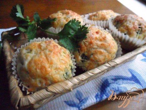 Кексы с кинзой и тархуном