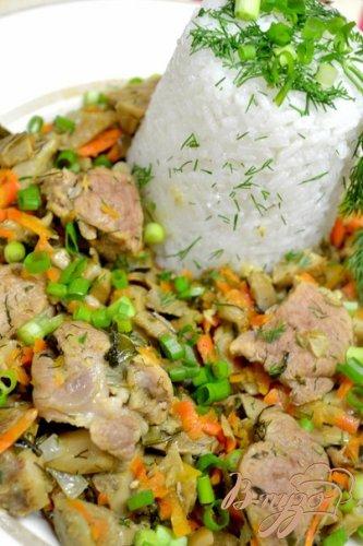 Рис с грибами.