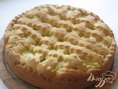 """Пирог с яблоками и заварным кремом """"Нежность"""""""