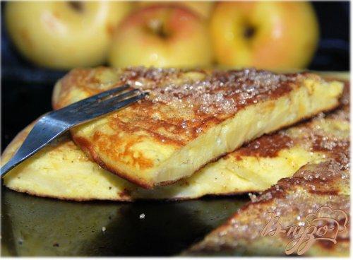 Омлет с яблоками - Апфельтатш