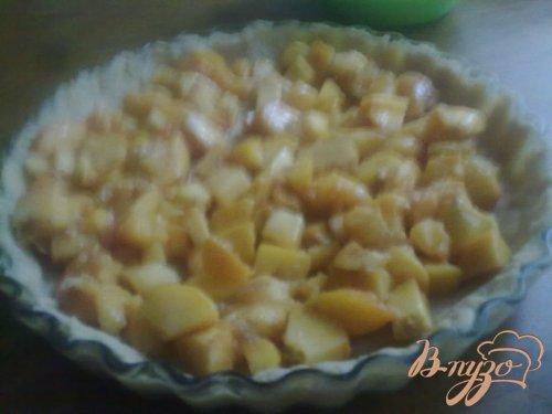 Сливочный персиковый тарт