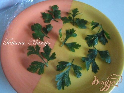 Чипсы из петрушки (для украшения блюд)