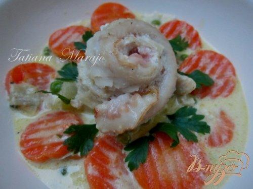 Рыбные улитки с овощами