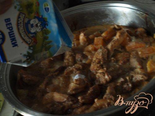Куриное филе с хурмой