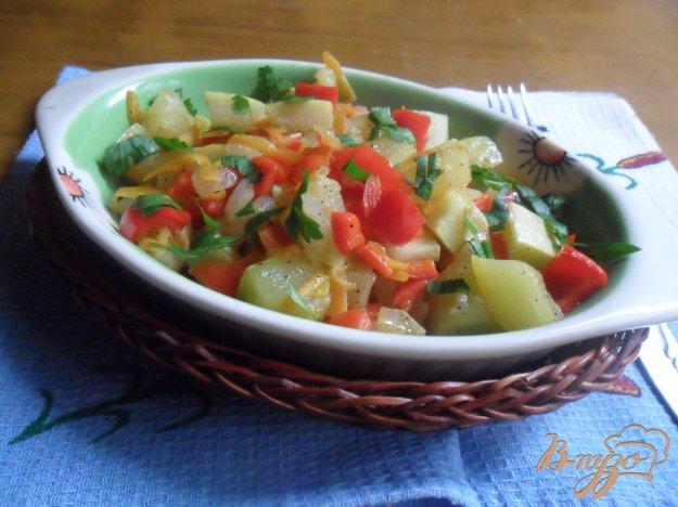 Рецепт Кабачки, тушенные с болгарским перцем