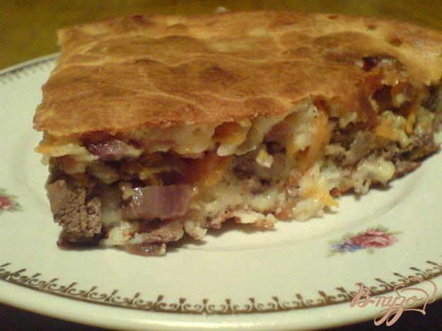 фото рецепта: Пирог с куриной печенью