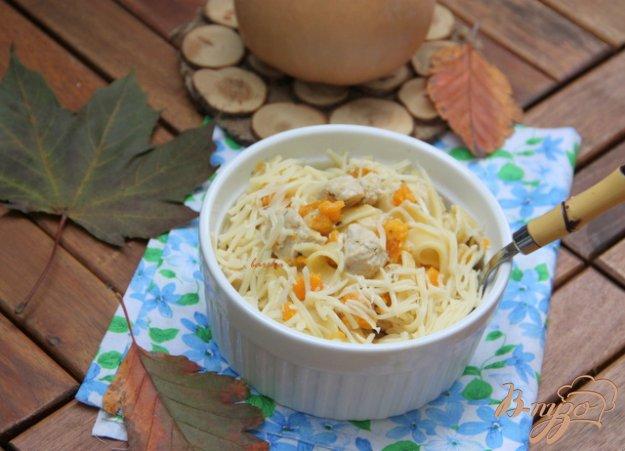 Рецепт Лапша с индейкой в тыквенно-сливочном соусе