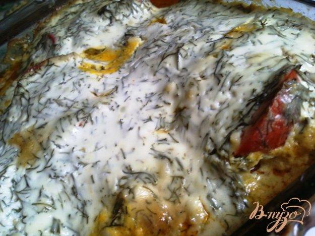 фото рецепта: Полосатое куриное филе с соусом