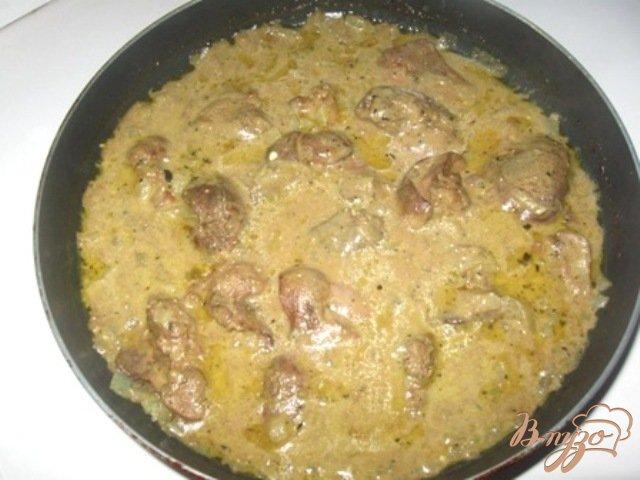 рецепты с куриной печенью со сметаной