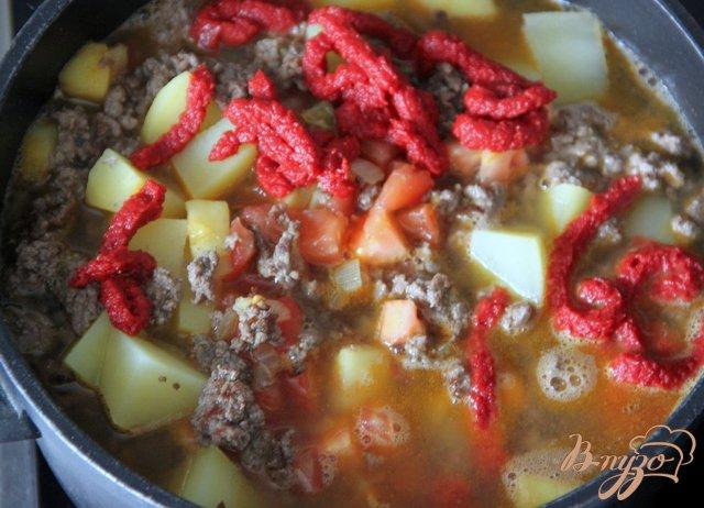 Фото приготовление рецепта: Восточный суп с фаршем шаг №5