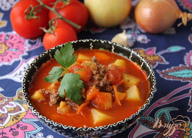 Фото приготовление рецепта: Восточный суп с фаршем шаг №6