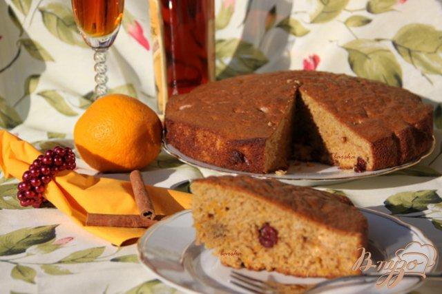 Фото приготовление рецепта: Ароматный хлеб из тыквы с клюквой, апельсином и бренди шаг №10