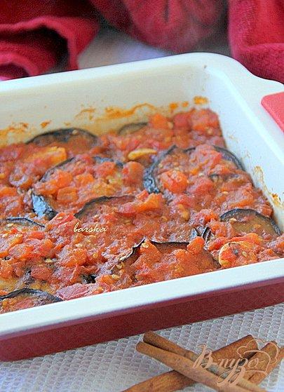 Рецепт Баклажаны под томатным соусом с корицей