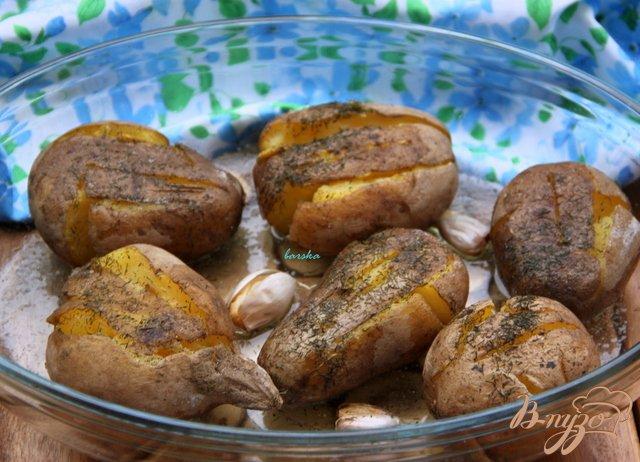 Фото приготовление рецепта: Запечёный вареный картофель шаг №5
