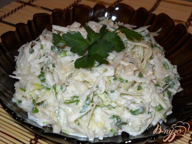 Фото приготовление рецепта: Салат из капусты с редькой шаг №5