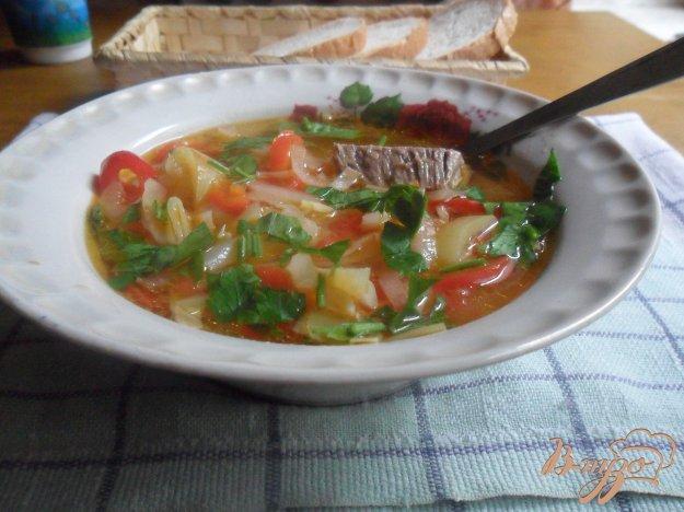 фото рецепта: Суп мясной с болгарским перцем