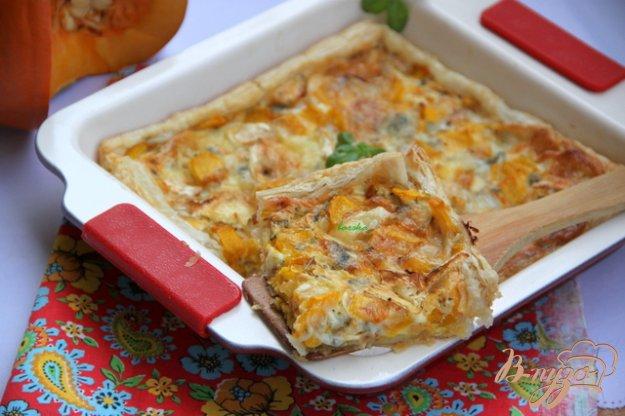 Рецепт Быстрый пирог с тыквой и голубым сыром