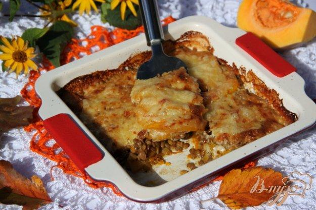 Рецепт Гратен из тыквы и чечевицы