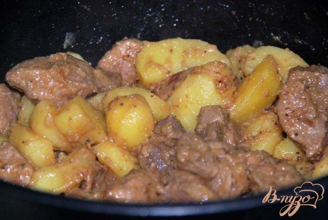 Фото приготовление рецепта: Оджахури или свинина по-домашнему шаг №9