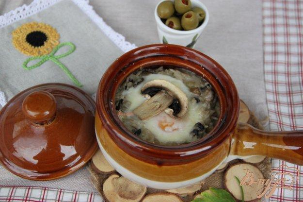 Рецепт Рисовая запеканка с грибами по-европейски