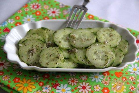 Рецепт Салат из огурцов с мятой