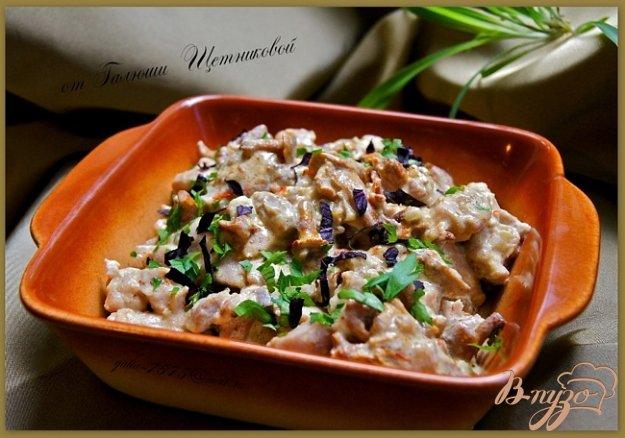 Рецепт Фрикасе из курицы с лисичками и шафраном