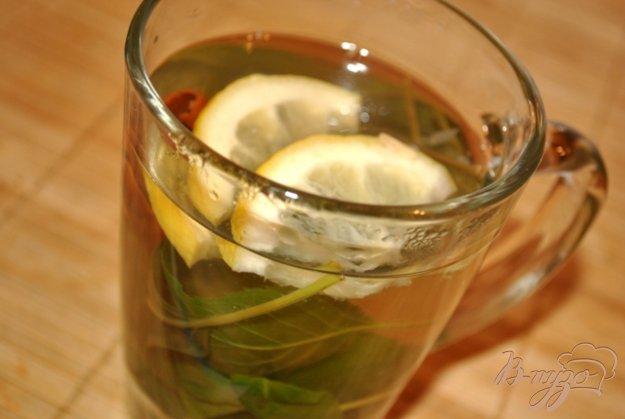 фото рецепта: Мятный чай с лимоном и корицей