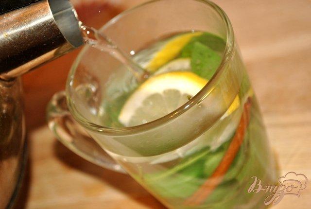 Фото приготовление рецепта: Мятный чай с лимоном и корицей шаг №2